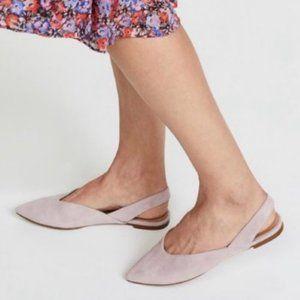 Madewell Ava Slingback Flat Blush Purple Shoes 8.5